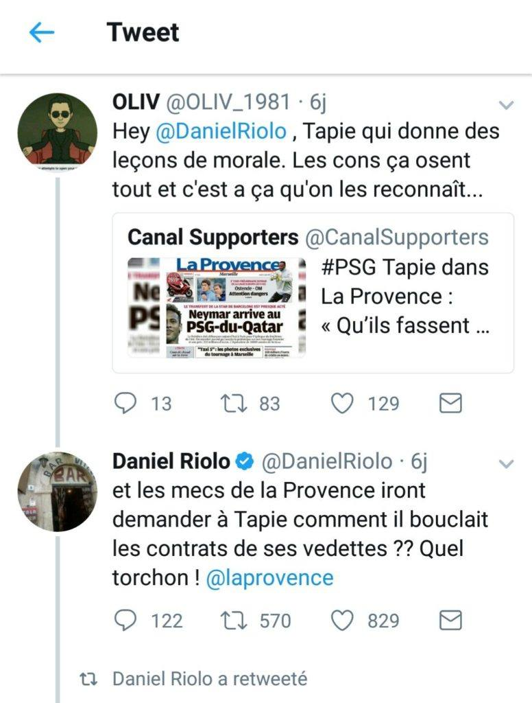 Daniel riolo traite le journal la provence de torchon infoavign - Le journal de la provence ...